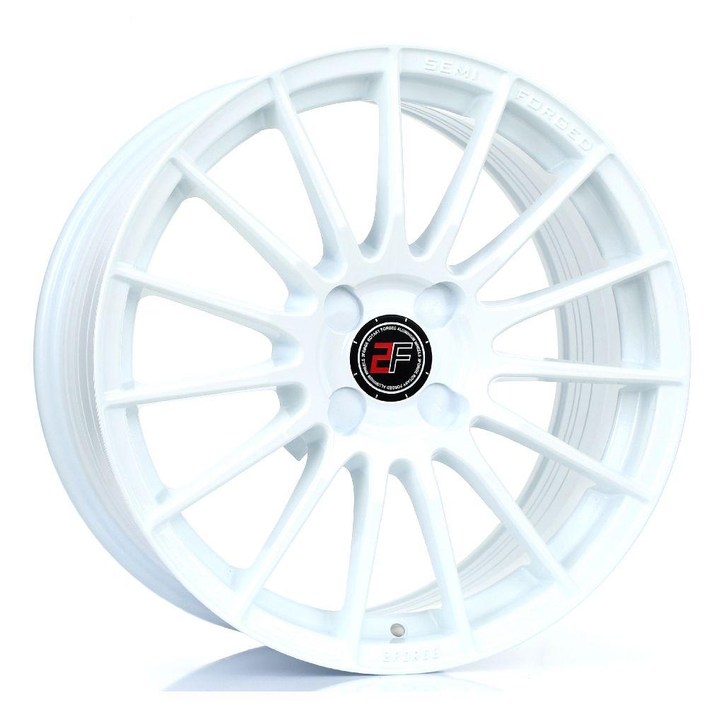 2FORGE ZF1 hliníkové disky 8x17 4x100 ET10 DO 58 WHITE